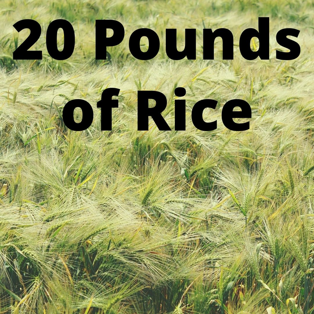 20 Pounds of Rice